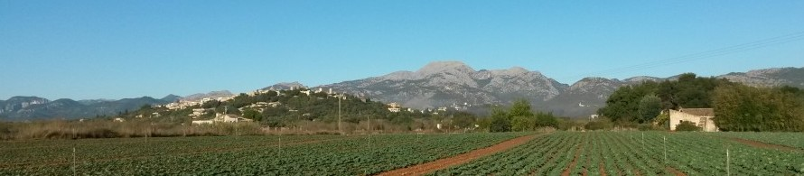 blue sky mountains mallorca