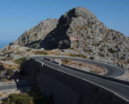 270 degree hairpin Sa Calobra Mallorca