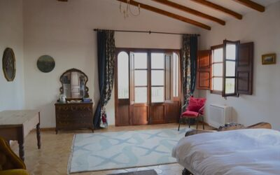 Bedrooms in the Campanet villa